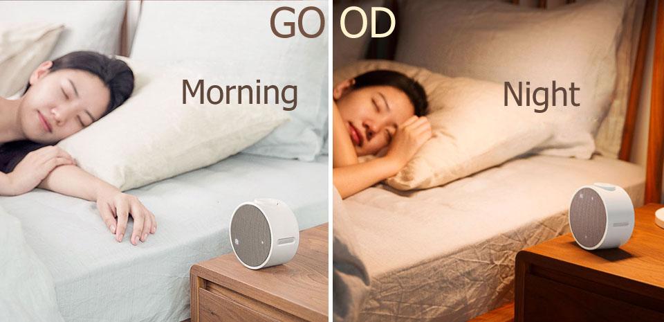 Будильник колонка Mi Music Alarm Clock утром и ночью