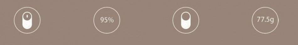 Xiaomi Mouse Silver/Gold